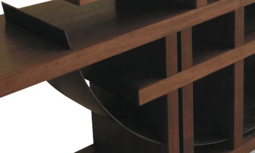 Mahogany credenza detail