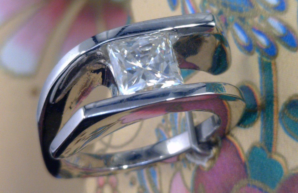 Bypass palladium ring with Square Moissanite center stone.png