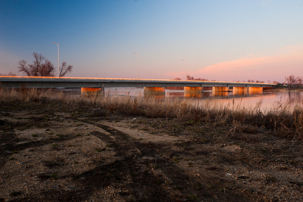 The Lonely Bridge      By: Robert Lowdon    Photograph taken in St. Adolphe, MB