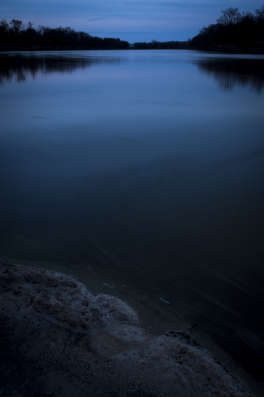 Fresh Water? By: Robert Lowdon After Sunset, Landscape Photograph, Assiniboine River, MB, Canada