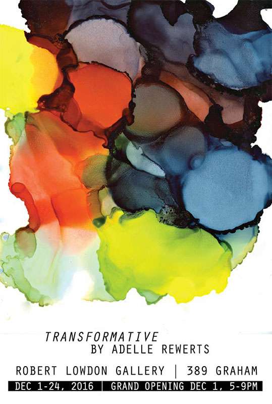 Please join us on December 1st for the art show opening of Transformative.