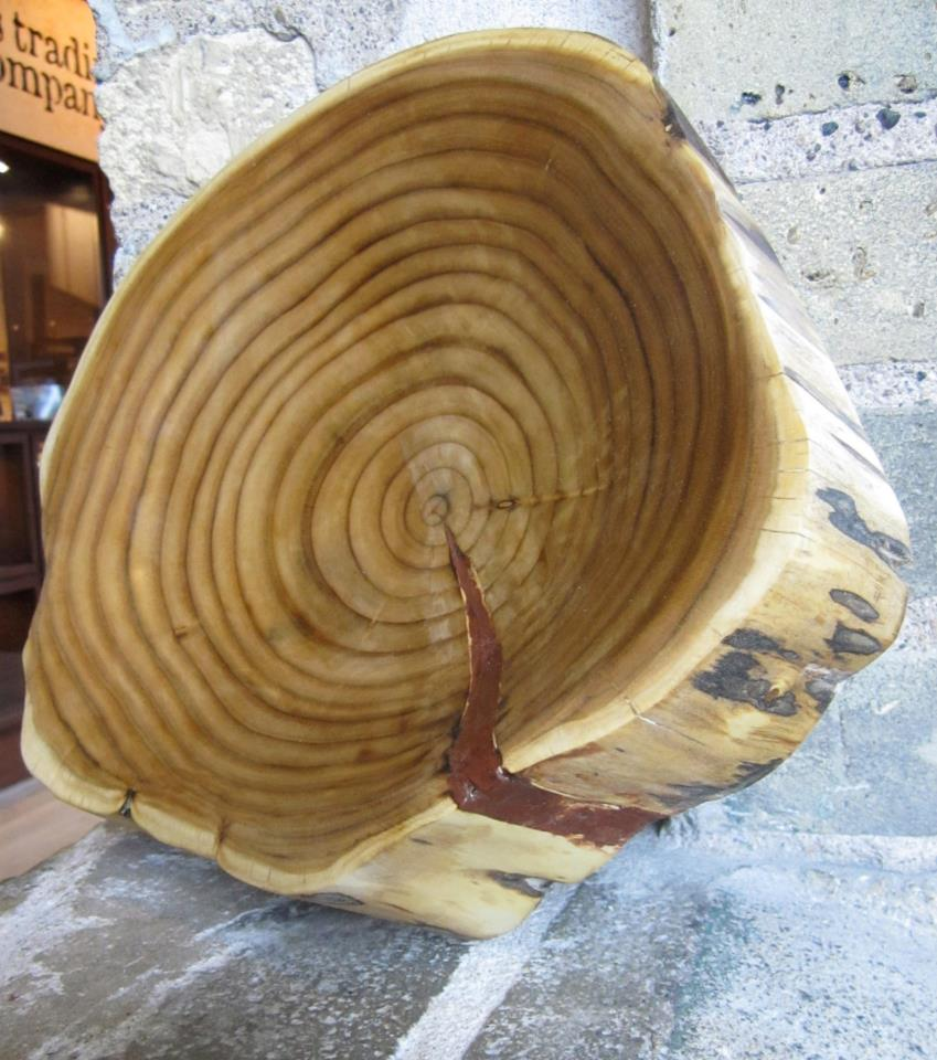 carved wood bowl