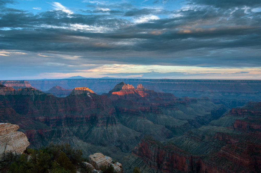 Grand Canyon, AZ at sunset.