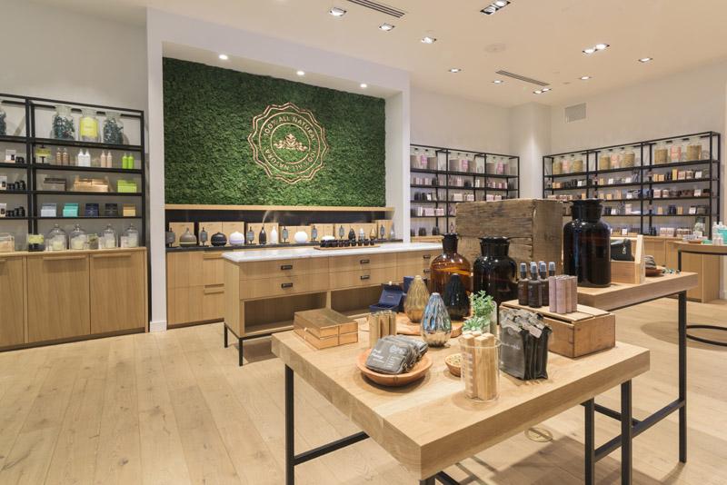 Store display and interior for Saje Wellness. © Robert Lowdon