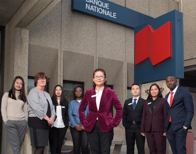 Team photo for National Bank. ©Robert Lowdon