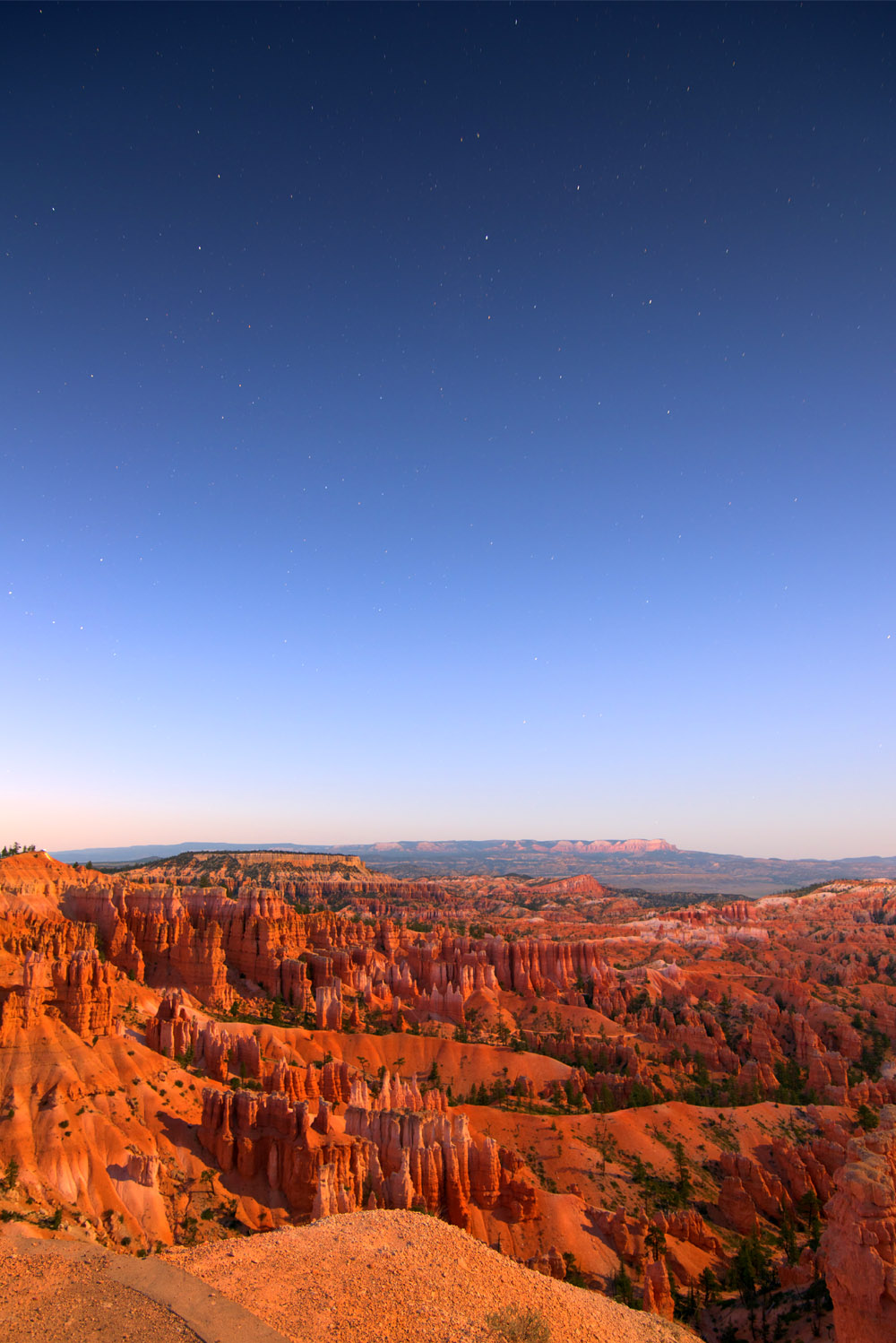 Stars become visible over Bryce Canyon © Robert Lowdon