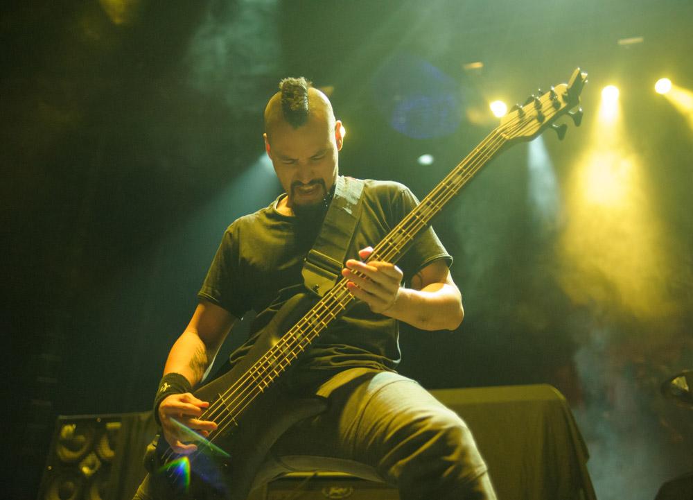 A member of 4arm plays bass. © Robert Lowdon