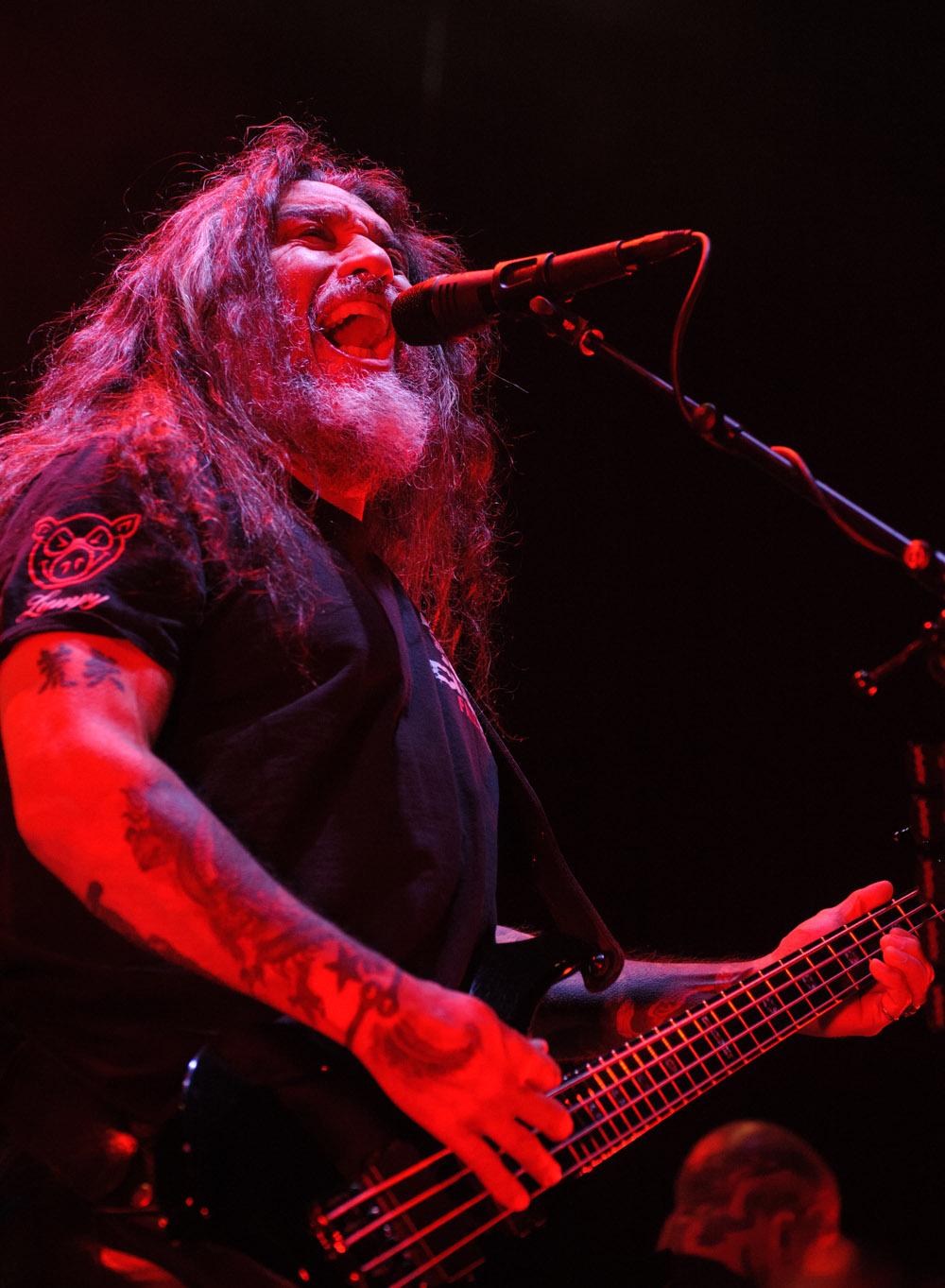 Tom Araya, singer / bassist Slayer © Robert Lowdon