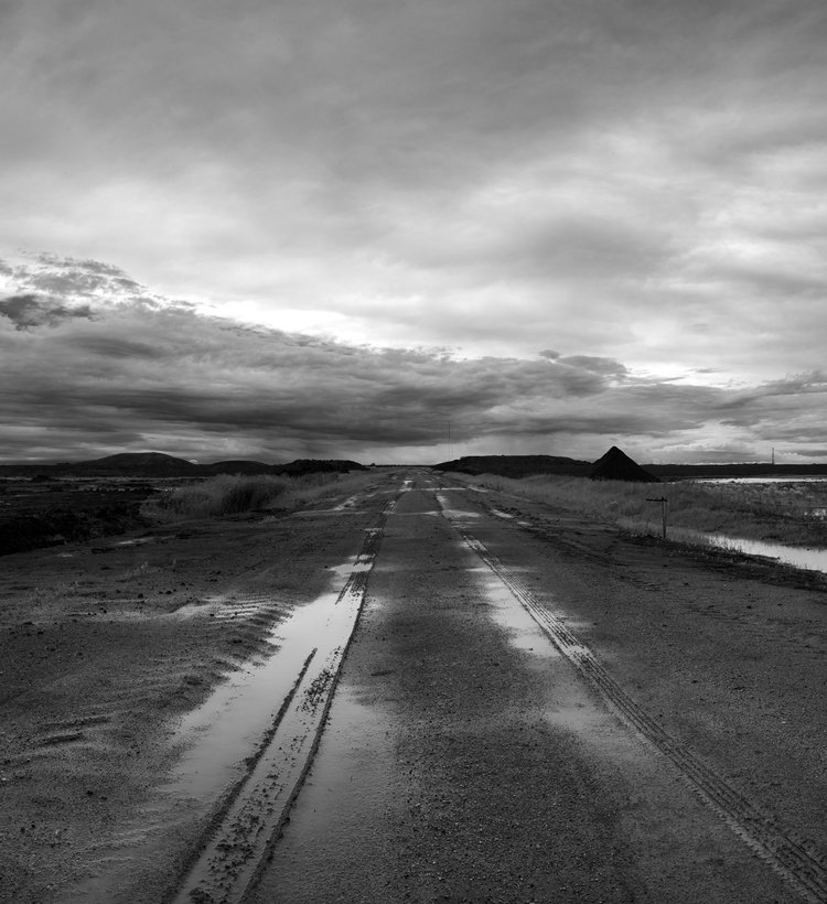 Down the Road.  Waverly west has been marked by new development causing the land to be forever changed. Large format landscape photograph