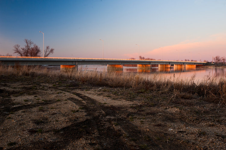 The Lonely Bridge.  Photograph taken in St. Adolphe, MB