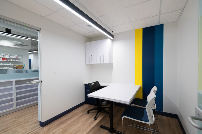 Private consultation rooms.