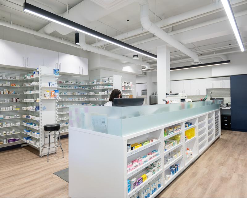 Interior of pharmacy area.