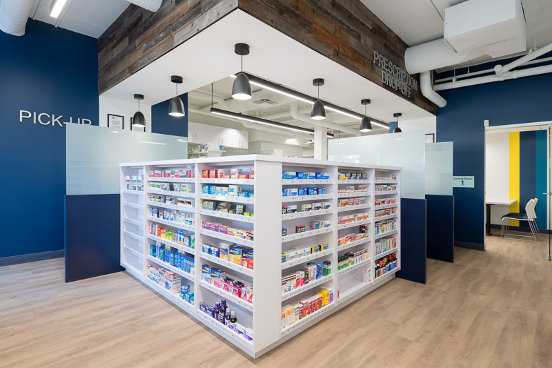Pharmacy front counter.