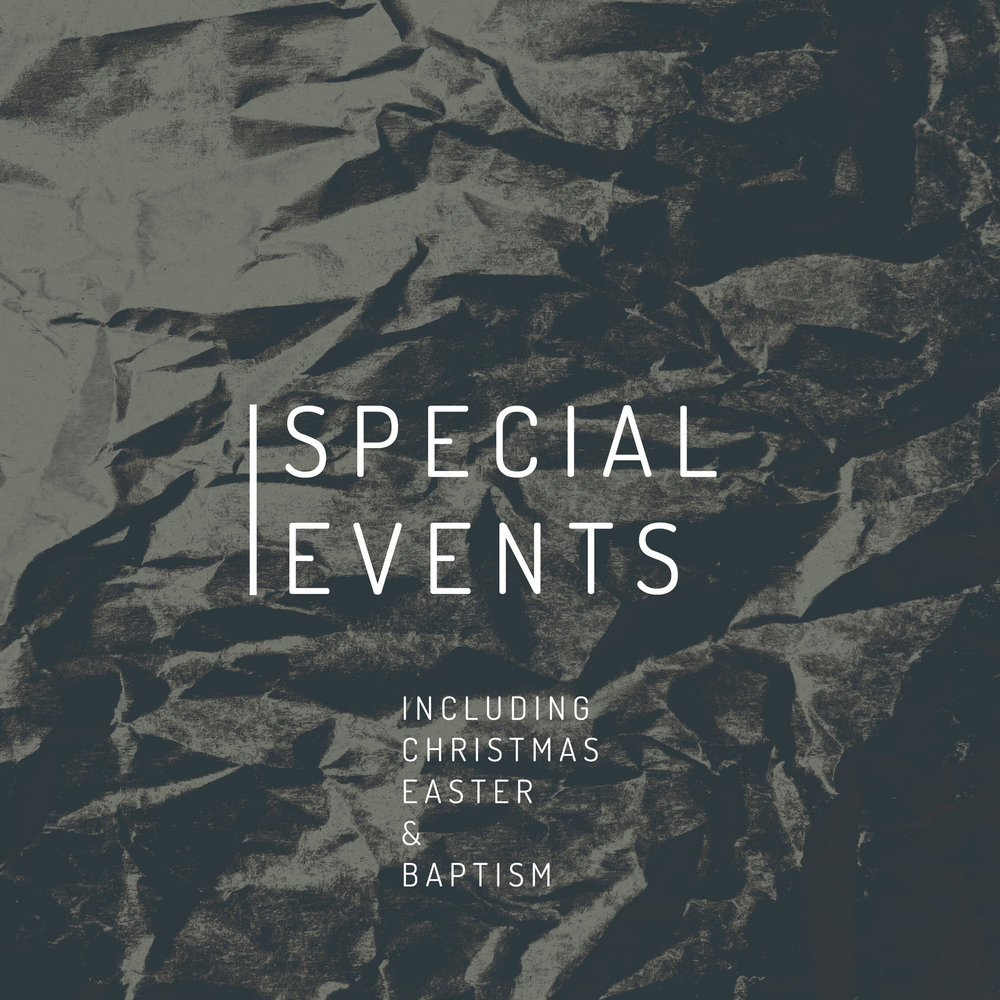 Celebrate what Jesus celebrates with us! Here are a few sermons from our seasonal and baptism services.