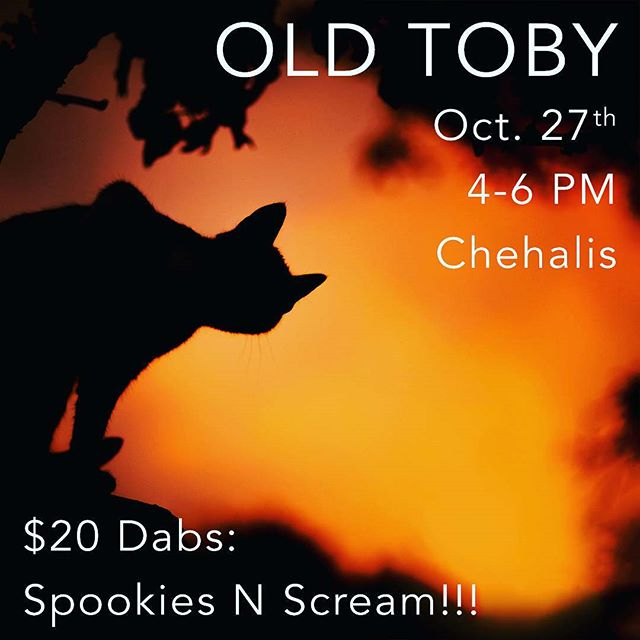 Want a screaming deal on Sweet As! Oil and the chance to meet some of the fine folks who produce it? Make sure to stop by @oldtobyrec this Friday from 4-6pm for your chance while supplies last! We will be in store meeting fans and giving advice on finding the right strains for what you love. #spookiesnscream