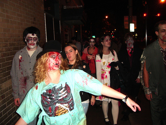 Zombie walk in the United States. (Josh McGinn/Flickr Creative Commons)