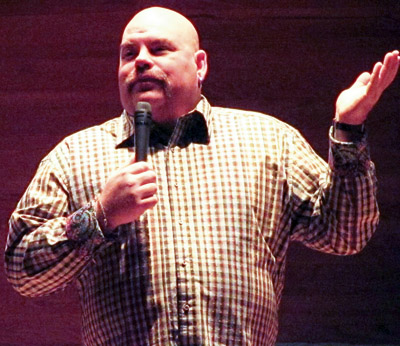 Big Daddy Tazz performs at the Lorne Watson Recital Hall on Wednesday, November 14, 2012, as part of Mental Health Week at BU. (Brady Knight / The Quill)