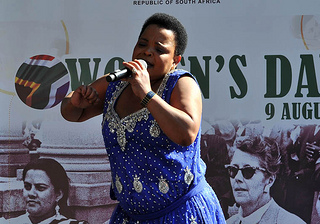 File photo. Gospel singer Rebecca Malope at the celebration of Women's Day in Pretoria, South Africa on August 9, 2012. (GovernmentZA / Flickr)