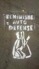 """""""Feminism = auto defense"""" (Denis Bocquet / Flickr)"""