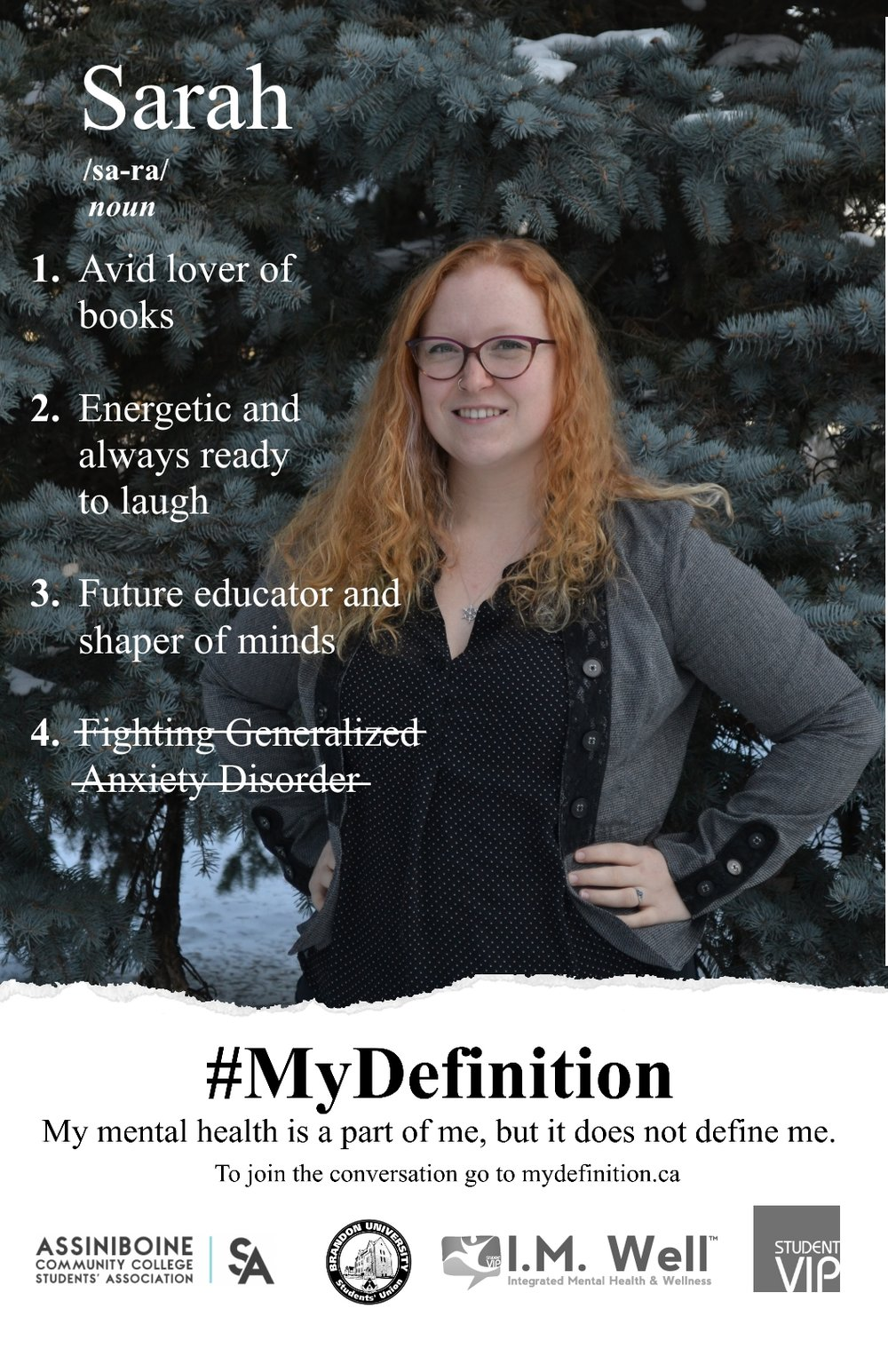 One of several posters seen around campus. (Credit: #MyDefinition Campaign)