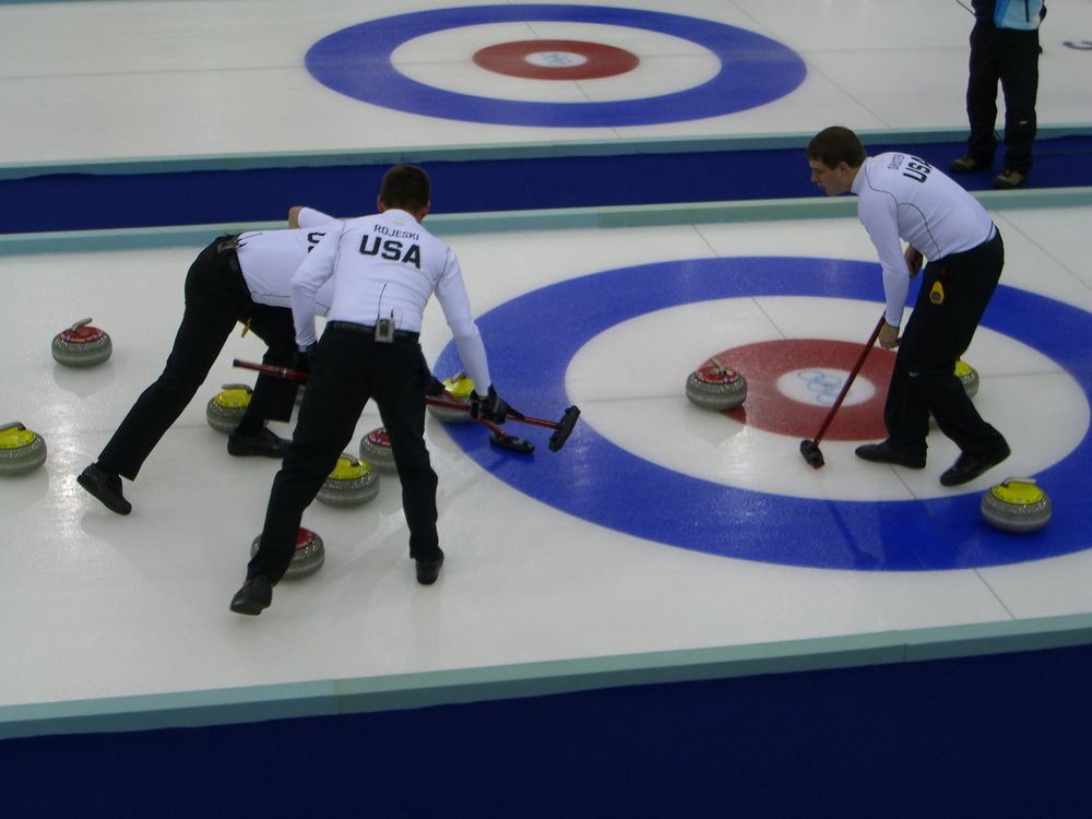 The United States curling team at the Turin 2006 Winter Olympics. (Credit: Feddar/Wikimedia Commons)
