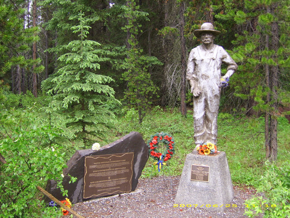 Memorial to the Casle Mountain Internment Camp in Banff National Park. (Credit: Radtek67/Wikimedia Commons)