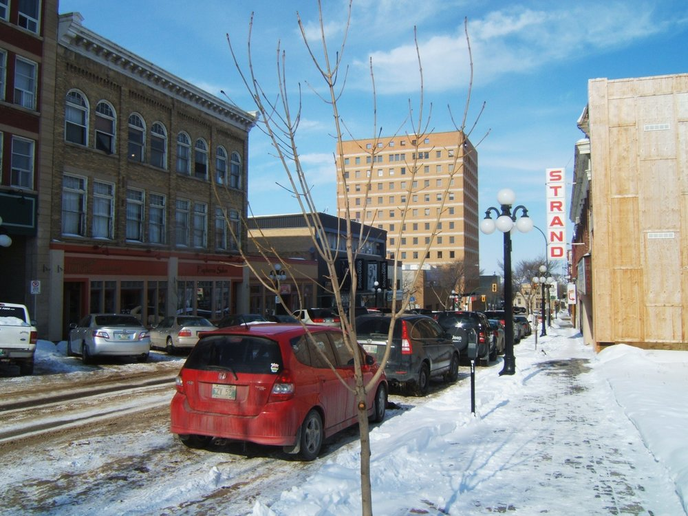 Downtown Brandon in winter. (Jd.101/Wikipedia Commons under  CC BY-SA 3.0 )