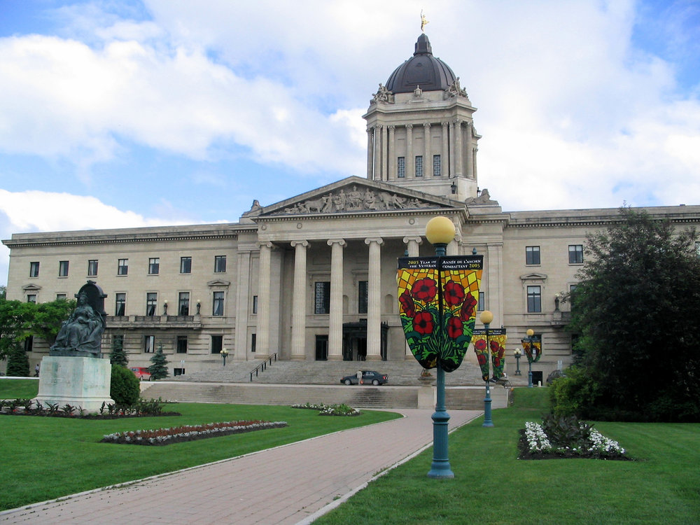 The Manitoba Legislative Building. (Canucks4ever83/Wikimedia Commons)