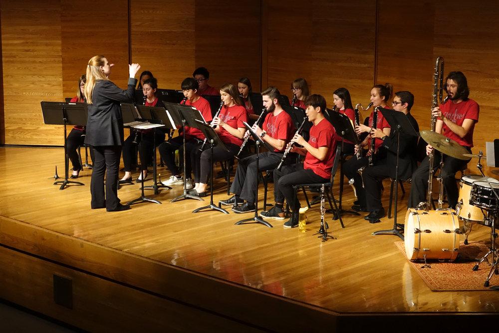 Clarinet Choir on display. (Mark Rash)