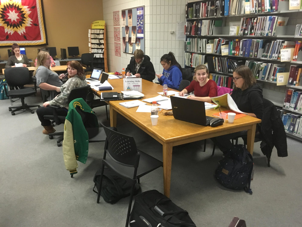 Students cracking down and getting those assignments out of the way. (Patrick Gohl/The Quill)