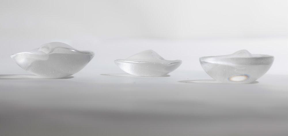 Leila Du Mond Body Topography Peak Ridge Dune contemporary art glass