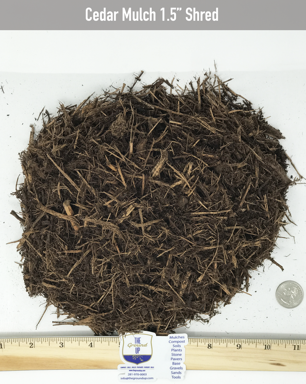 Cedar Mulch - Double Shredded     $38/cuyd  Great as an insect repellent. This is the prettiest Cedar Mulch you will ever use on your landscapes.