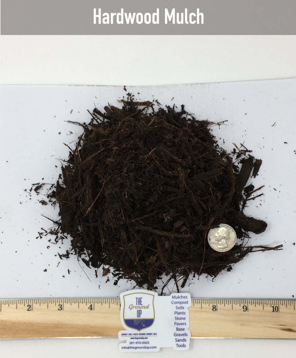 Double Shredded Native Hardwood mulch $25/cuyd  Our most popular mulch. This is a double shredded & composted mulch. Made from a mix of native woods, leaves, and clippings. Excellent for flowerbeds, control of soil temperatures, suppressor of weeds.