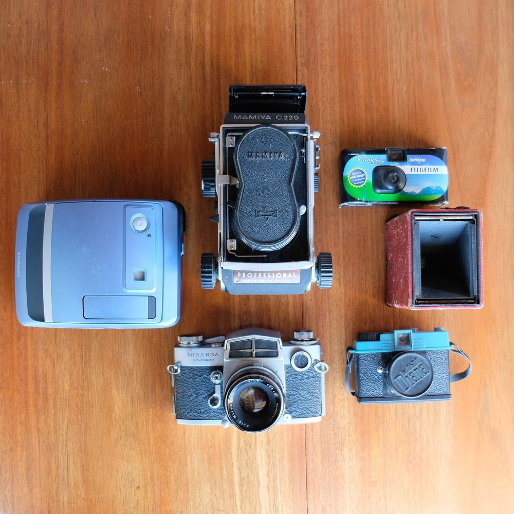 A piece of my camera collection.