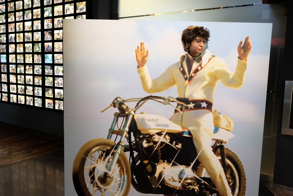 At the Harley Davidson Museum.