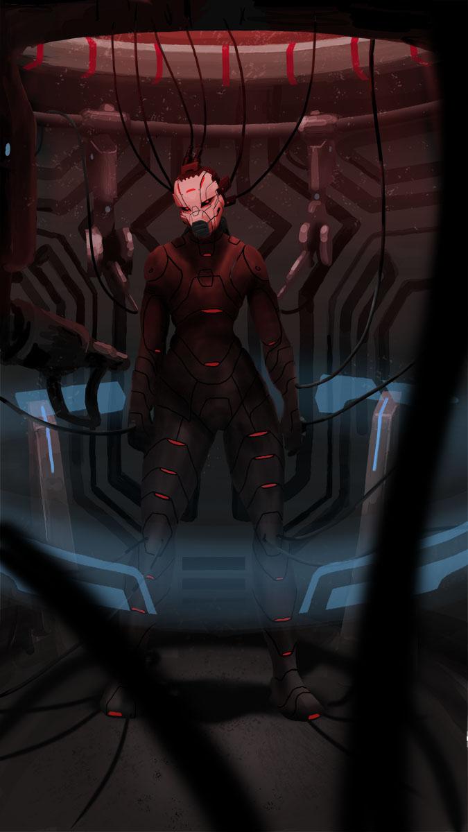 Cyborg Woman Concept