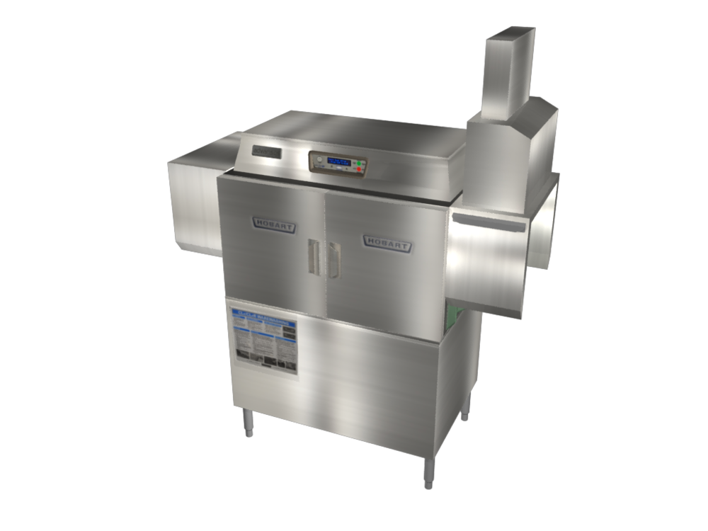 3D Industrial Dishwasher