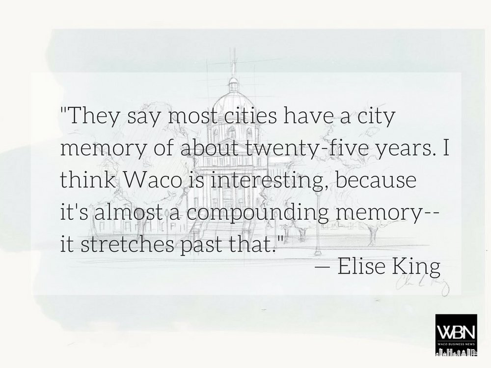 Sketch by Elise King Graphic by Kristen Ritch/Waco Business News