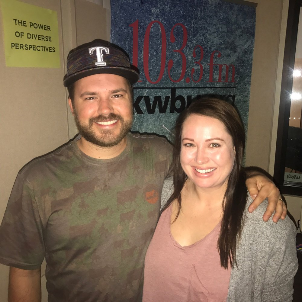 Downtown Depot host Austin Meek with Alexandra Benton