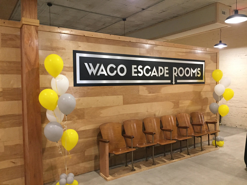 Lobby of Waco Escape Rooms at 711 Washington Avenue