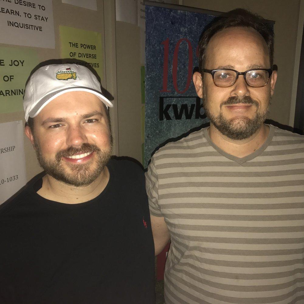 Dowtown Depot host Austin Meek with J.B. Smith