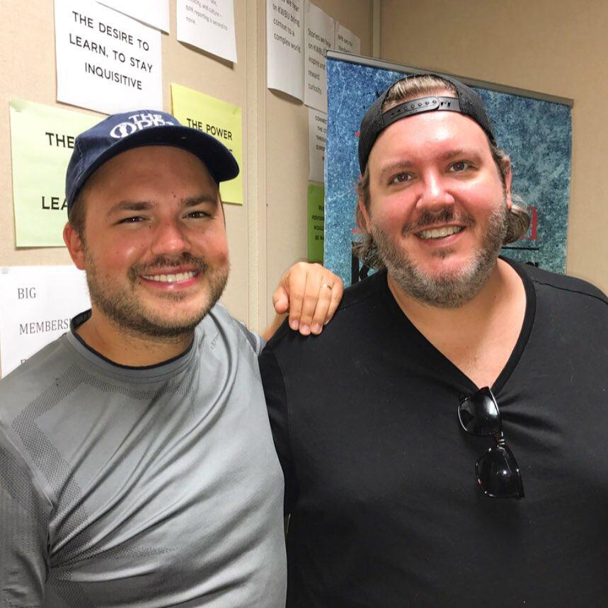 Host Austin Meek with Brett Mills