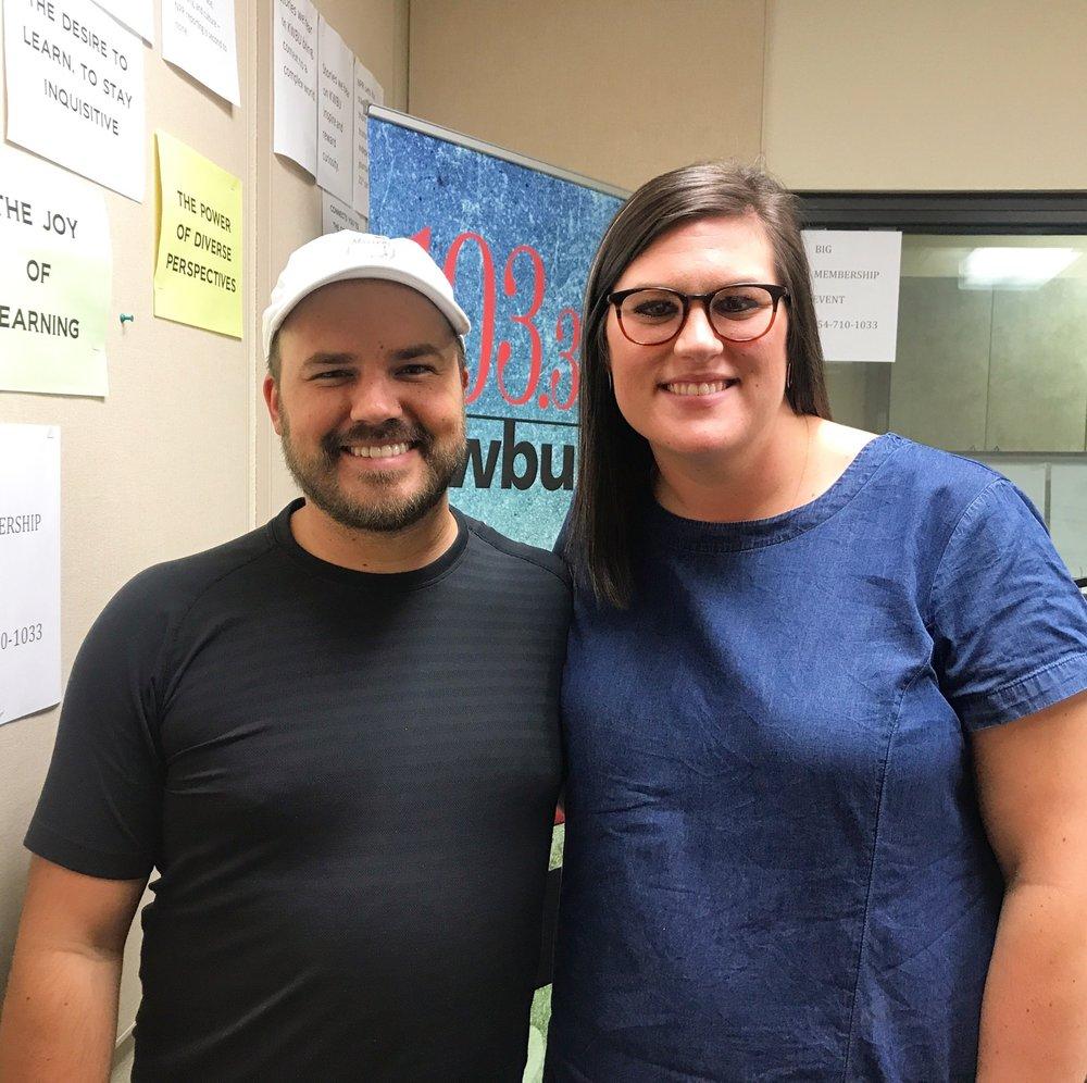 Host Austin Meek with Blair Brooks