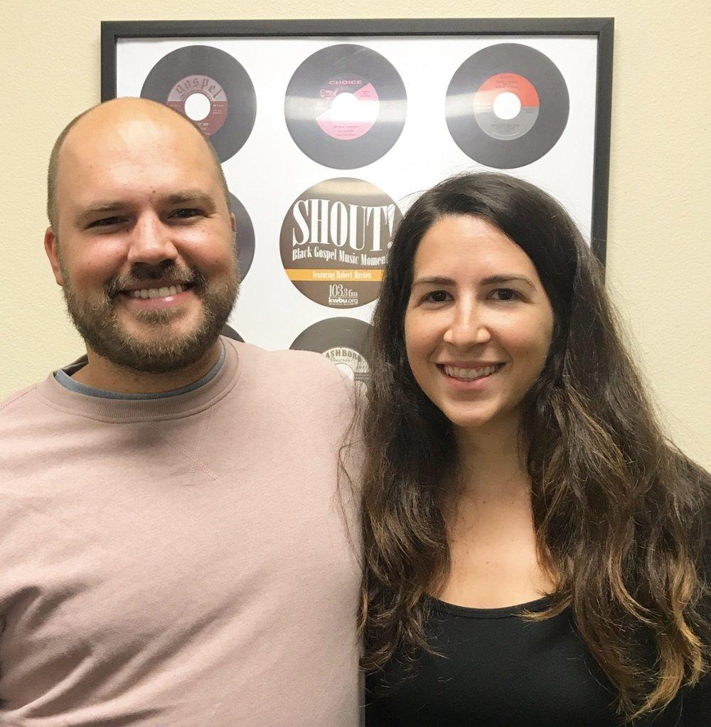 Host Austin Meek with Andie Day
