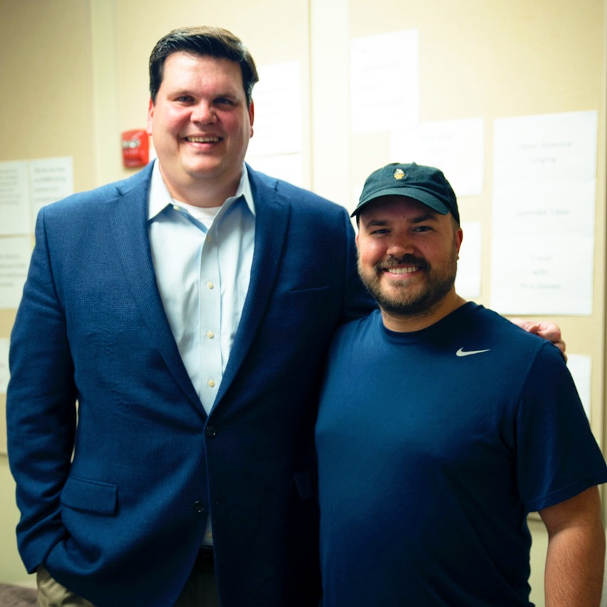Dan Ingham with show host Austin Meek