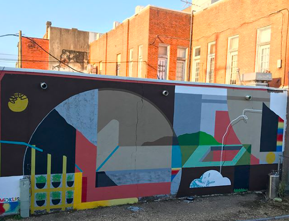Burson's recent work on the side of True Love Bar at 414 Franklin Avenue