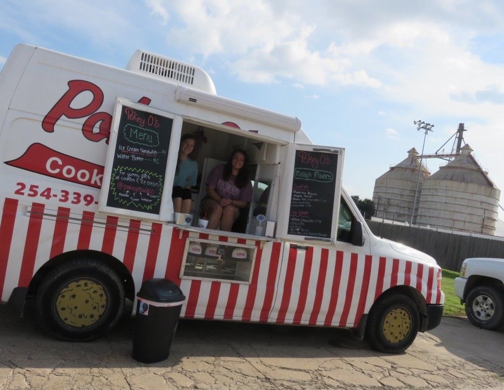Pokey O's Cookies & Ice Cream, parked outside of Reckless Ironworks at 321 S. 5th Street, during the summer of 2016.