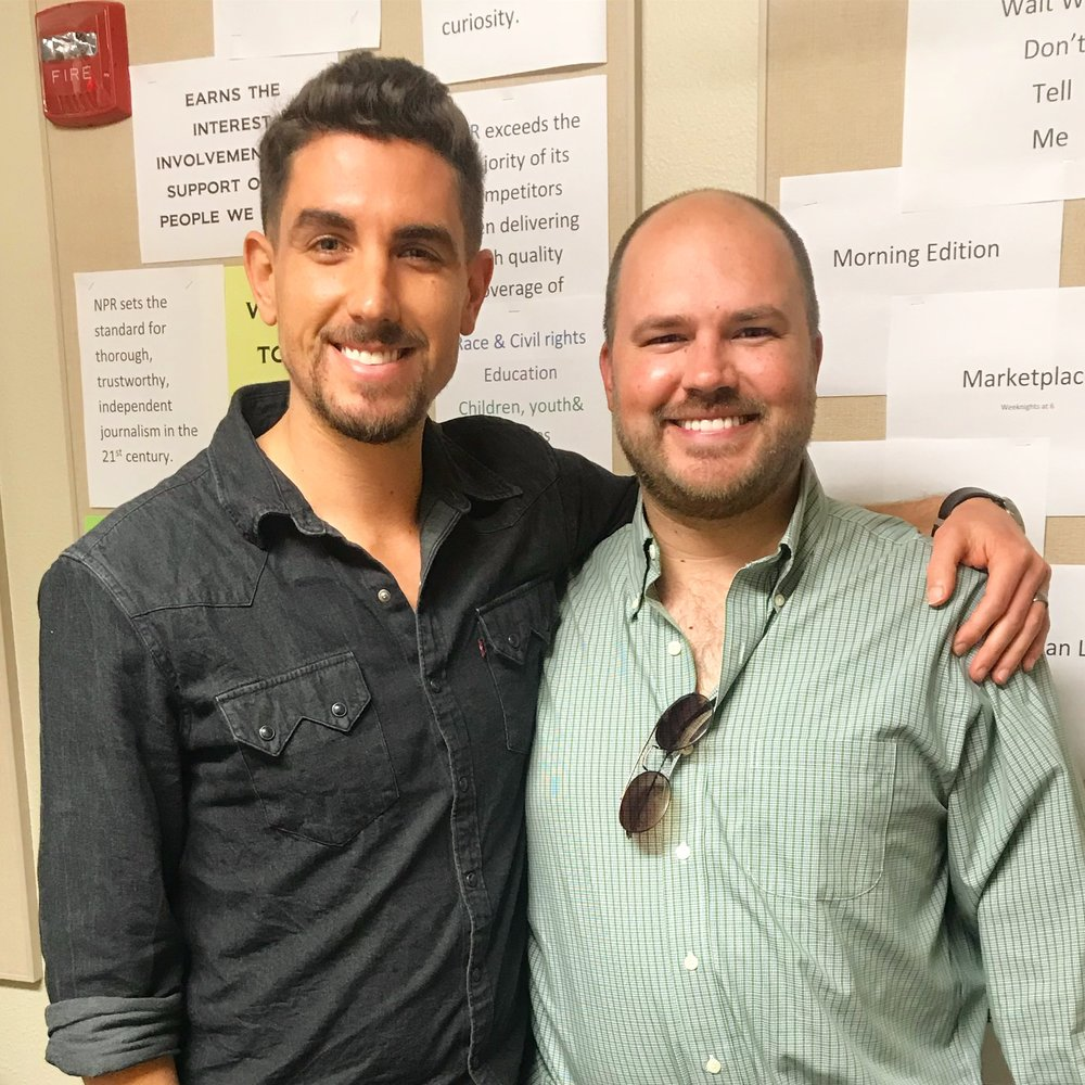 Blake Batson with show host Austin Meek