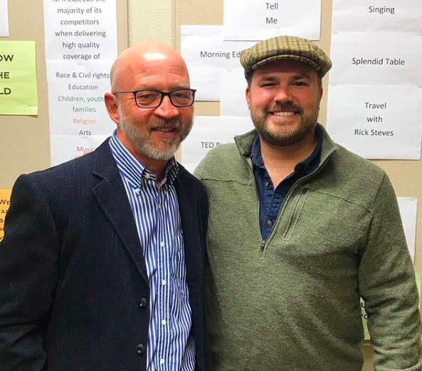 Dr. Greg Leman with show host Austin Meek
