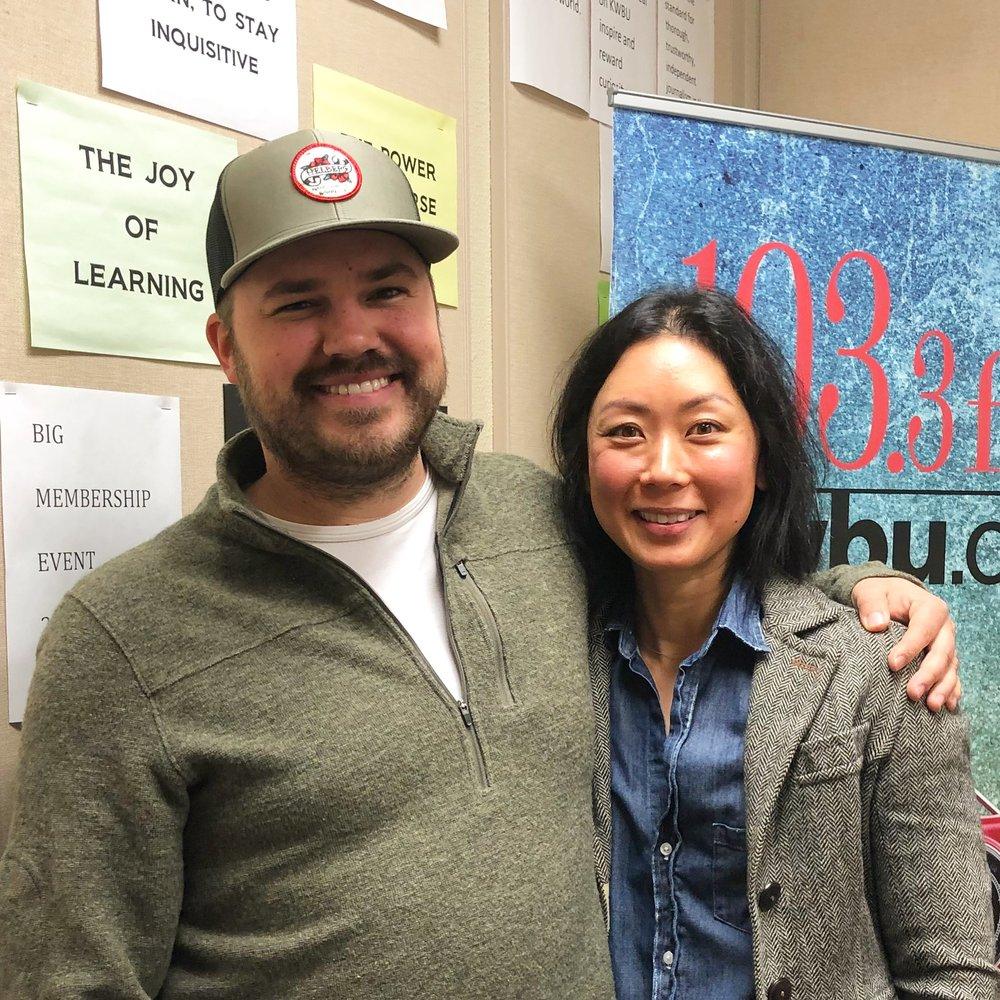 Show host Austin Meek with Revekah Echols